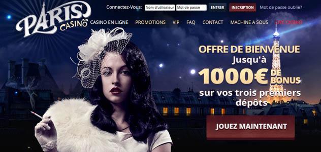 Quels sont les Bonus de Paris Casino ?