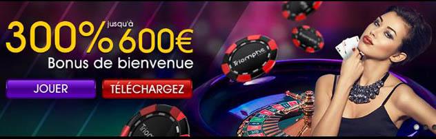 Jouer sur casino Triomphe