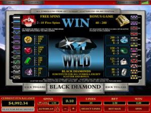 Machine à sous Black Diamond