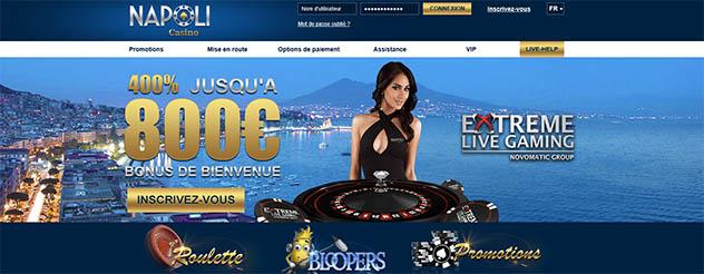 Jouer sur Casino Napoli