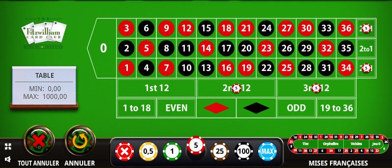 Méthode roulette des douzaines