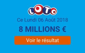 Résultats du Loto du  lundi 06 Août 2018